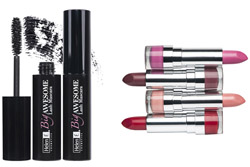 Lipstick and mascara product shot